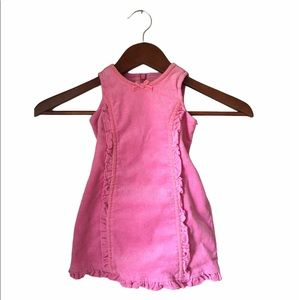 NWT Children's Place Pink Velvet Dress Baby 6-9M